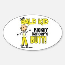 Bald 4 Childhood Cancer (SFT) Oval Decal