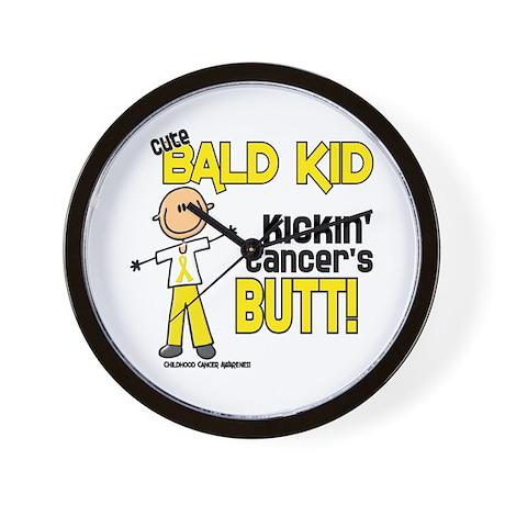 Bald 4 Childhood Cancer (SFT) Wall Clock