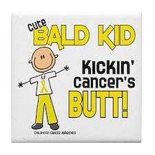 Bald 4 Childhood Cancer (SFT) Tile Coaster