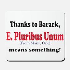 E. Pluribus Unum Mousepad