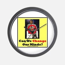 """Can We Change Our Minds?"" Wall Clock"