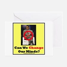 """""""Can We Change Our Minds?"""" Greeting Card"""