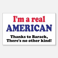 Real American Rectangle Decal