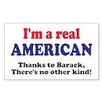 Real American Rectangle Sticker 50 pk)