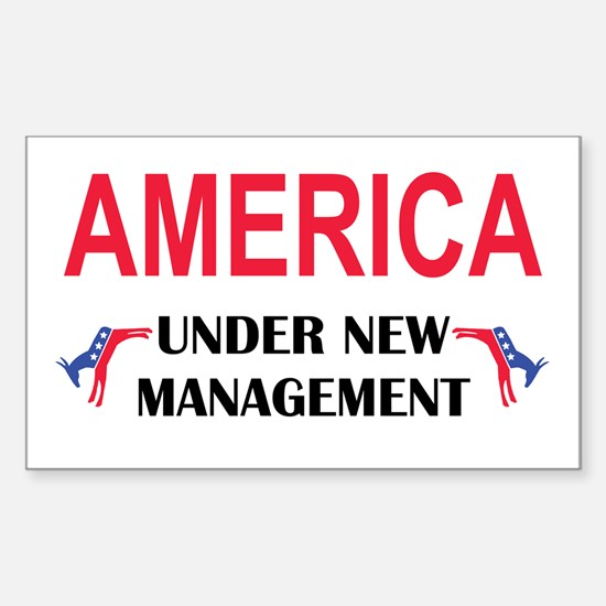 Under New Management Rectangle Decal