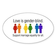 Marriage Equality Oval Decal