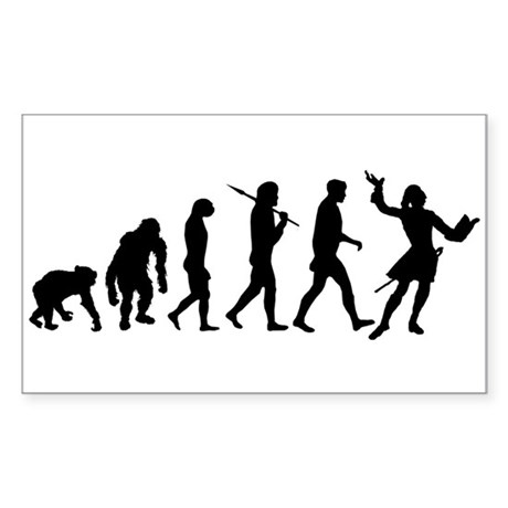 Evolution of Acting Sticker (Rectangle)