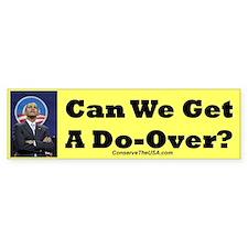 """Do-Over?"" Bumper Bumper Sticker"