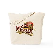 Motorcyclist cafe barn & bunk Tote Bag