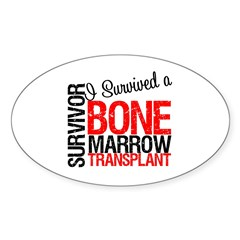 I Survived a Bone Marrow Transplant Oval Decal