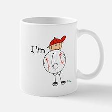 Baseball I'm 6 Mug