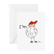 Baseball I'm 6 Greeting Card