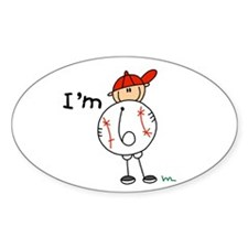 Baseball I'm 6 Oval Decal