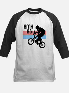 1980s BMX Boy Kids Baseball Jersey