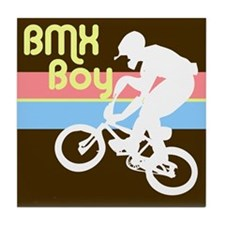 1980s BMX Boy Tile Coaster