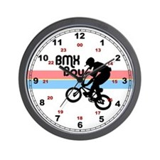 1980s BMX Boy Wall Clock