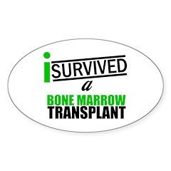 I Survived a Bone Marrow Transplant Oval Decal