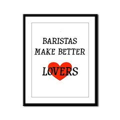 Barista Gift Framed Panel Print