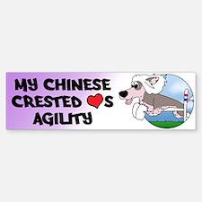 Cartoon Chinese Crested Agility Bumper Bumper Bumper Sticker