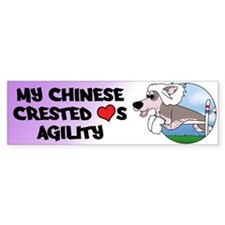 Cartoon Chinese Crested Agility Bumper Bumper Sticker