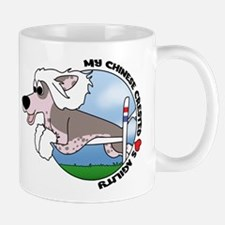 Cartoon Chinese Crested Agility Mug