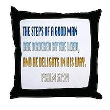 Psalms 37:23 Throw Pillow