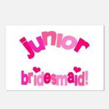 Pink Kiss Junior Bridesmaid Postcards (Package of