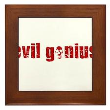 EVIL GENIUS SHIRT TEE T-SHIRT HUMOR Framed Tile