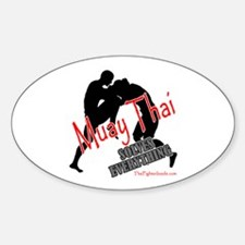 Muay Thai Solves Everything Oval Decal