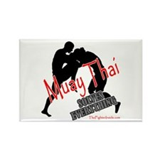 Muay Thai Solves Everything Rectangle Magnet (100