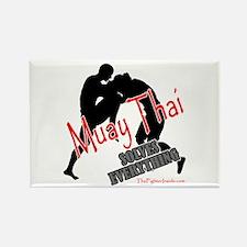 Muay Thai Solves Everything Rectangle Magnet