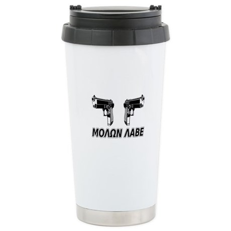 Molon Labe (Greek) Stainless Steel Travel Mug