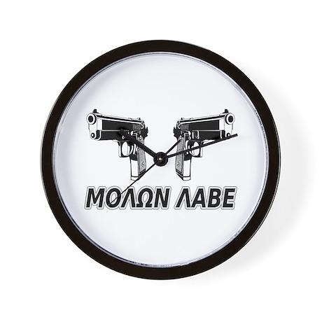 Molon Labe (Greek) Wall Clock