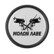 Molon Labe (Greek) Large Wall Clock