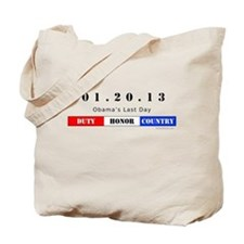 1.20.13 - Obama's Last Day Tote Bag