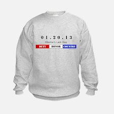 1.20.13 - Obama's Last Day Sweatshirt