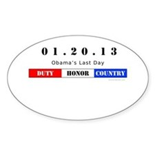 1.20.13 - Obama's Last Day Oval Decal