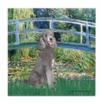 Bridge/Std Poodle silver) Tile Coaster