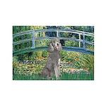Bridge/Std Poodle silver) Rectangle Magnet (10 pac