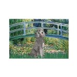 Bridge/Std Poodle silver) Rectangle Magnet (100 pa