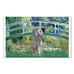 Bridge/Std Poodle silver) Sticker (Rectangle)