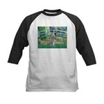 Bridge/Std Poodle silver) Kids Baseball Jersey