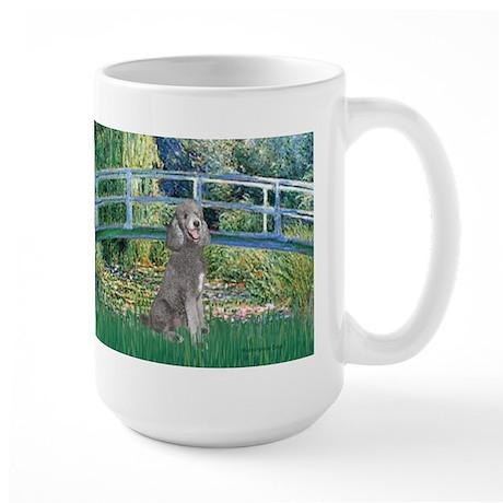 Bridge/Std Poodle silver) Large Mug