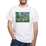Bridge/Std Poodle silver) White T-Shirt