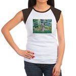 Bridge/Std Poodle silver) Women's Cap Sleeve T-Shi