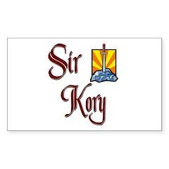 Sir Kory Rectangle Decal