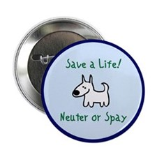 Save a Life! Spay & Neuter Button (10 pk)
