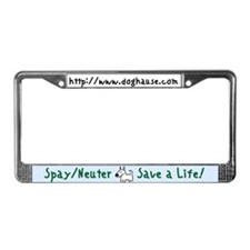 Save a Life! Spay & Neuter License Plate Frame