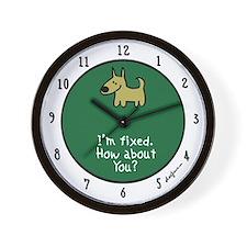 I'm Fixed (Dog) Wall Clock