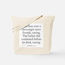 GENESIS  50:16 Tote Bag